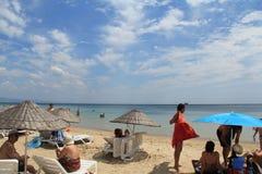 Egeïsch gebied - Tenedos-eiland, Ayazma-strand stock afbeeldingen
