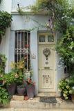 Egeïsch gebied - Tenedos-eiland, kunst, bij de winkels, huizen royalty-vrije stock fotografie