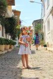 Egeïsch gebied - Tenedos-eiland, kunst, bij de winkels, huizen Royalty-vrije Stock Foto's