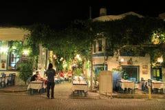 Egeïsch gebied - Tenedos-eiland, kunst, bij de winkels, huizen Stock Fotografie