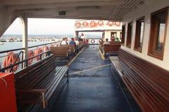 Egeïsch gebied - Tenedos-het eiland, veerboot gaat naar Tenedos Royalty-vrije Stock Foto