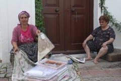 Egeïsch gebied - verkopende ambachten stock fotografie