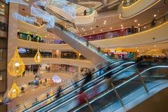 Egeïsch het Winkelen van China Shanghai Park stock foto's