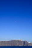 Egeïsch overzees cycladic vulkanisch Eiland Santorini. stock afbeeldingen
