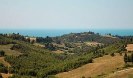 Egeïsch Overzees landschap Stock Afbeelding
