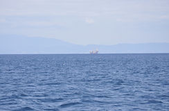 Egeïsch Overzees landschap dichtbij Thassos-eiland in Griekenland royalty-vrije stock afbeeldingen