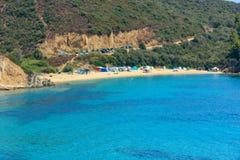 Egeïsche kust, Sithonia, Griekenland Stock Afbeeldingen