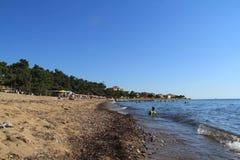 Egeïsche overzees - strand stock fotografie