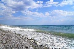 Egeïsche overzeese kust in Griekenland Royalty-vrije Stock Foto's