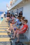 Egeïsche overzeese veerboot royalty-vrije stock afbeelding