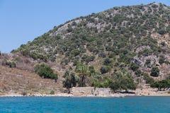 Egejski wybrzeże Zdjęcia Royalty Free