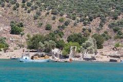 Egejski wybrzeże Obrazy Stock