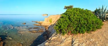 Egejski wybrzeże, Sithonia, Grecja Obrazy Stock