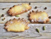 Egel gevormde koekjes Stock Afbeelding