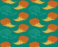 Egel naadloos patroon als achtergrond in vector royalty-vrije illustratie