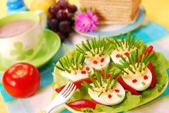 Egel van eieren en bieslook Stock Foto