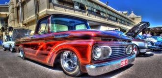 Egen målad Ford F100-pickup Arkivfoto