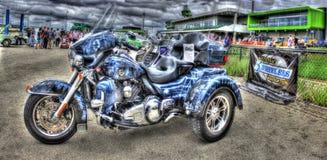 Egen målade Harley Davidson Trike Fotografering för Bildbyråer