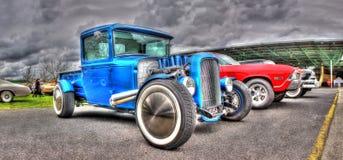 Egen 1931 planlagd blå varubillastbil Royaltyfria Foton