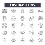Egenar fodrar symboler, tecken, vektoruppsättningen, översiktsillustrationbegrepp royaltyfri illustrationer