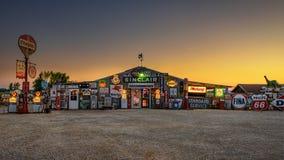 Egennamns bensingränd på historisk rutt 66 i Missouri Royaltyfria Bilder
