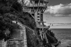 Egenskap på strandframdelen, Ancona, Marche, Italien Royaltyfria Foton