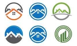 Egenskapsfastighet Logo Template Royaltyfri Bild