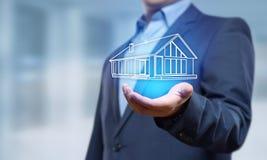 Egenskapsledning Real Estate intecknar hyraköpbegrepp Royaltyfri Bild