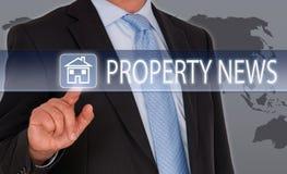 Egenskapsnyheterna - Real Estate royaltyfri bild