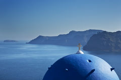Egeo blu della cupola blu Fotografia Stock