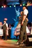 EGER - 8月18日: 传统匈牙利民间舞 库存图片