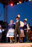 EGER - AUGUST 18: Traditional Hungarian folk dance Stock Photo