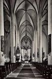 Eger Cheb Jezus krzyża Kościelna modlitwa zdjęcia royalty free
