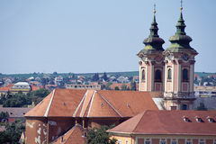 Eger city and church in Hungary Royalty Free Stock Photos