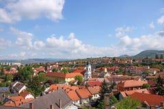 Eger domy i kościół Obrazy Stock