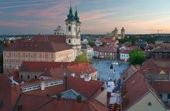 Eger Hongrie, vue de château Photos libres de droits
