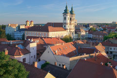 Eger Hongrie, vue de château Images libres de droits