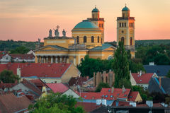 Eger Hungary, Cathedral. Eger Hungary, one of the largest cities in Hungary. It`s famous for producing wine Stock Images