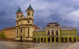 Eger main square Royalty Free Stock Image