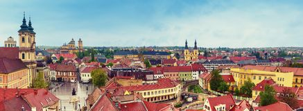 Eger miasta panorama Fotografia Stock