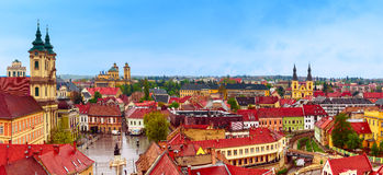 Eger miasta panorama Zdjęcia Stock