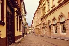 Eger miasta ulica Fotografia Stock