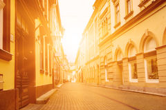 Eger miasta ulica Zdjęcie Royalty Free