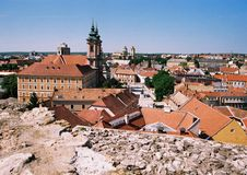 eger panorama Obrazy Royalty Free