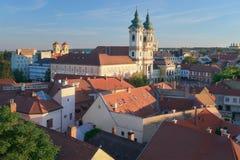 Eger Węgry, Grodowy widok Zdjęcia Royalty Free