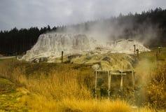 Egerszalok, неудача Hungaryan термальная Холм известняка на Egerszalok Стоковые Изображения RF
