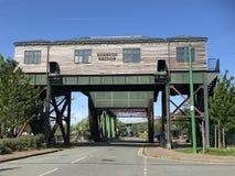 Egerton Bridge, Birkenhead Docks, Wirral. Egerton Bridge, a working bascule bridge at Birkenhead Docks on the Wirral Stock Image