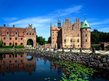 Egeskov Castle, Δανία Στοκ Φωτογραφία