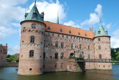 Egeskov castle. A front view of Egeskov castle, in Denmark Stock Image