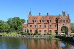 Egeskov castle and cannon Royalty Free Stock Image